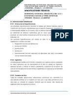 Especificaciones Técnicas Jardin Victor Raul - El Porvenir