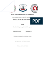 la competencia empresarial y el análisis FODA
