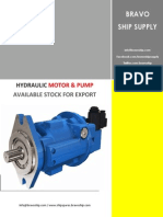 Hydrulic Motor & Pump Stock List