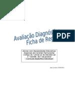 Avaliação Diagnóstica Ficha de Registo