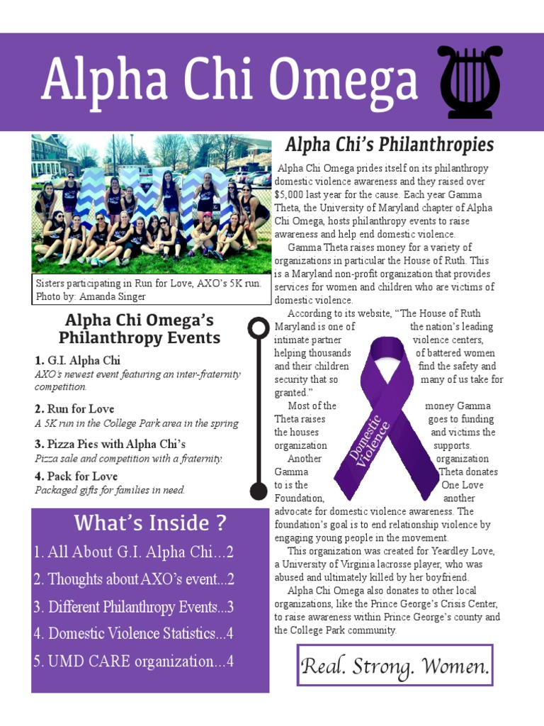Alpha Chi Omega Newsletter | Fraternities And Sororities