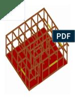 Estructura de madera de casa prefabricada