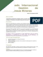 Folleto Diplomado Internacional en Gestion de Empresas Mineras 14-2