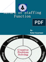 Nature of Staffing Function