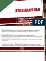 aspek pentadbiran ujian