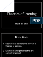 theories of learning march 01, 2014