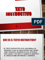 El Texto Instructivo