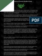 Environmental and Economic Benefits of Hemp