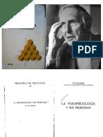 Hans Bender - La Parapsicología y Sus Problemas