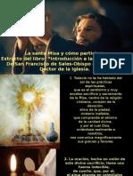 La Santa Misa y Como Participar-San Francisco de Sales
