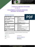 portafolio de productos para entidades financieras reguladas y no reguladas