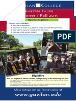 Gavilan College Summer / Fall 2015 Semester Guide