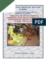 Perfil Creacion de Centro Comercial Comunal Vista Alegre