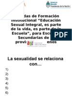 educación sexual integrada