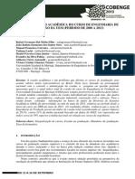 Dados de evasão no curso de Engenharia de Produção - UEM - período 2000 a 2013