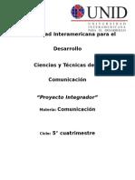 Proyecto Integrador. Comunicacion.