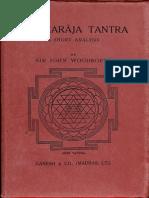 Tantraraja Tantra a Short Analysis 1956. Ganesh & Co - Sir Jone Woodroffe