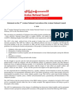 ANC Statement on 2nd Arakan National Council English
