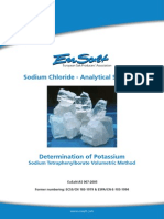 EuSalt AS007-2005 Potassium - Sodium Tetraphenylborate Volumetric Method