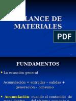 8. Balance de Materiales