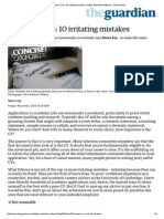 Academic CVs_ 10 Irritating Mistakes _ Higher Education Network _ the Guardian