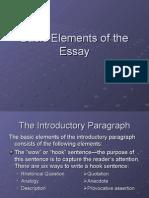 Basic Elements of the Essay