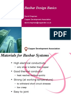 Busbar Design Thermal Conductivity Electrical Resistance And Conductance