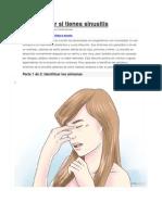 Como Identificar Sinusitis