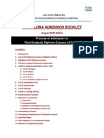 Admission Booklet CDAC PG Diploma
