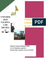 Mecanizacion en el PERU