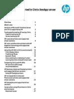 HP - Printer Compatibility Guide for XenApp