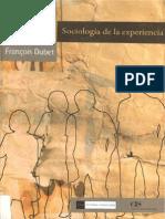 Dubet Francois - Sociologia de La Experiencia