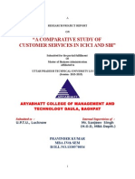 A Comparative study of customer services in ICICI and SBI.doc