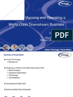 Designing, Manning and Operating a World-Class Downstream Business