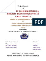 CONSUMER TRENDS IN AIRTEL MOBILE COMMUNICATION LIMITED.doc