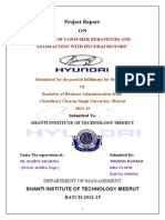 CUSTOMER SATISFACTION WITH  HYUNDAI MOTORS.doc