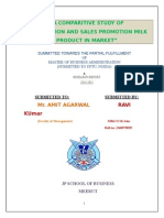 distribution and sales promotion Parag milk project new.doc