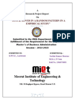 EMPIRICAL STUDY OF INDIAN STOCK MARKET.doc