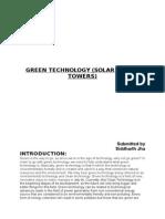 Seminar_Report_Solar_Tower_Technology