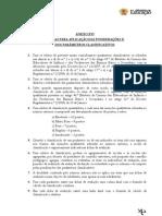 Regras para aplicação das ponderações e dos parâmetros classificativos