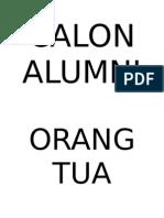 SAMBUTAN Calon Alumni