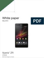 Whitepaper en c5502 c5503 Xperia Zr