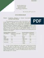 Sunderban allowance for CG employee