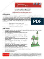 Proposal of Radial Drill Machine SER-I