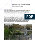 Dijual Rumah Di Puri Kencana, Jakarta Barat, Rp. 9 Miliar, 11610