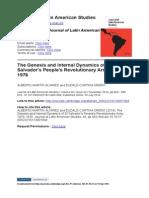 The Genesis and internal dynamics of El Salvador's Ejército Revolucionario Popular