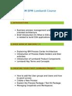 IBM Lombardi BPM Online Training