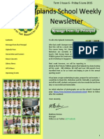 Uplands School Weekly Newsletter - Term 3 Issue 6 - 5 June 2015