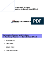Optimizing Process and System of Auxiliary Machine to Zero Defect Effect