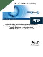 3GPP TS 25 304
